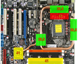 Asus P5K3 Deluxe - DDR3-1066 - Wärmebild Idle