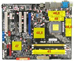 Asus P5B-E Plus - DDR2-800 - Wärmebild Idle