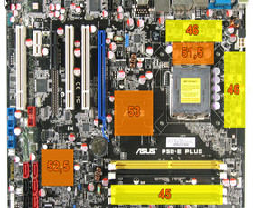 Asus P5B-E Plus - DDR2-800 - Wärmebild Last