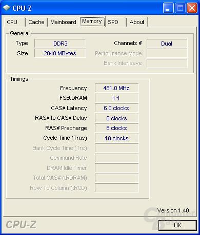 CPU-Z RAM max