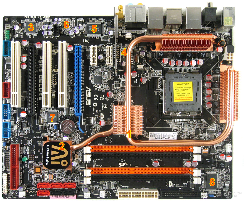 Asus P5K3 Deluxe – Komponenten