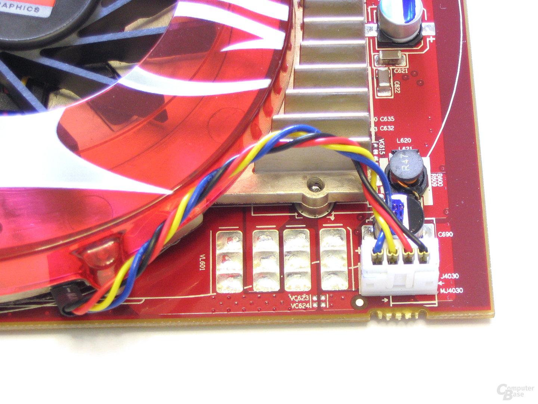 Radeon HD 2600 XT Luefteranschluss