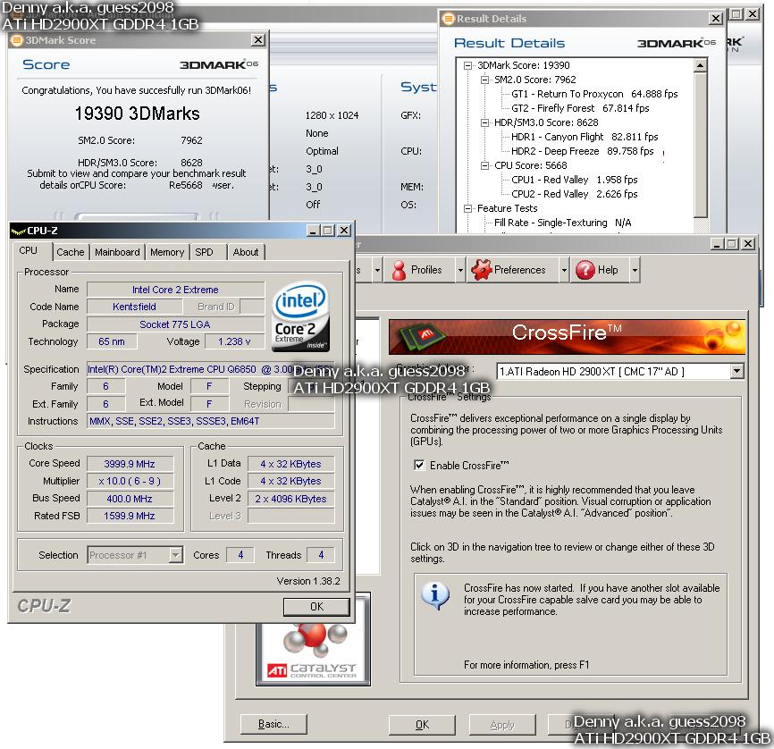 Radeon HD 2900 XT 1024 MB GDDR4 im CrsssFire-Verbund – 3DMark06-Ergebnis