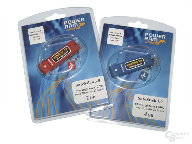 Satron SafeStick 3.0 – Verpackungen