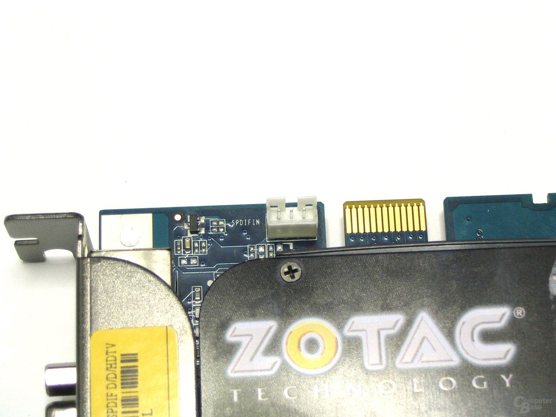 GeForce 8600 GTS 512 SPDIF-Anschluss