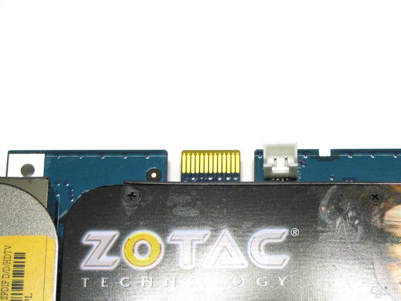 GeForce 8600 GTS AMP! Edition SPDIF-Anschluss