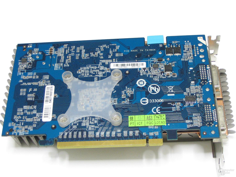 GeForce 8600 GTS Silent-Pipe 3 Rückseite