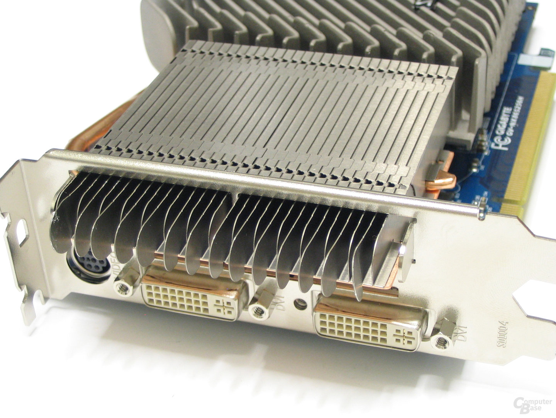 GeForce 8600 GTS Silent-Pipe 3 Slotblech