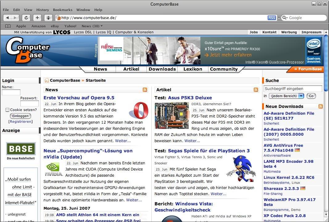 Safari 3.0.2 Beta für Windows stellt Schriften endlich korrekt dar.