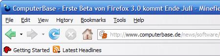 Anti-Phishing in der Adresszeile von Firefox 3.0