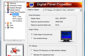 Digital Panel Properties