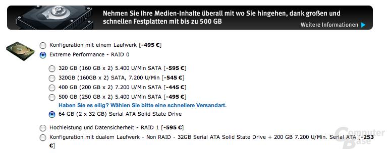 SSD-Option bei Alienware