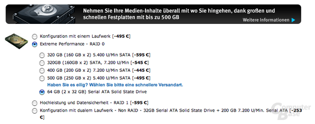 SSD-Option bei Alienware
