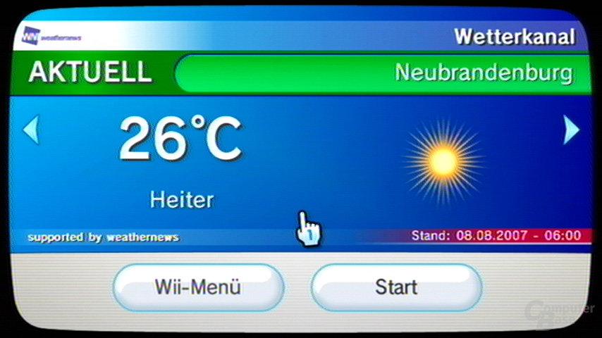 Titelbild beim Wetterkanal