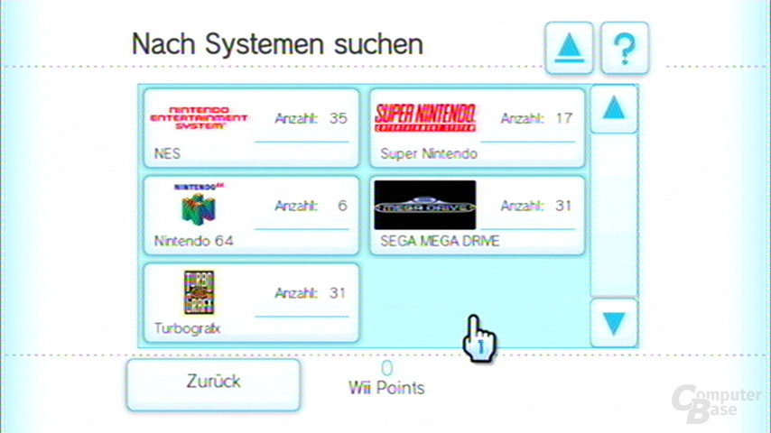 Suche nach Systemen