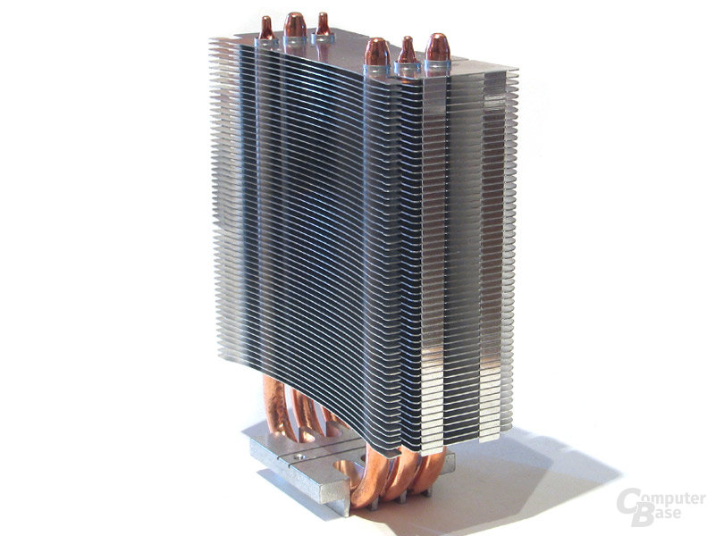 Schmaler Leichtmetall-Kühlkörper – ohne Lüfter knapp 550 Gramm