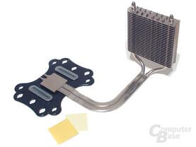 Backsite-Zusatzkühler mit Heatpipeverlängerung, leider nicht uneingeschränkt kompatibel