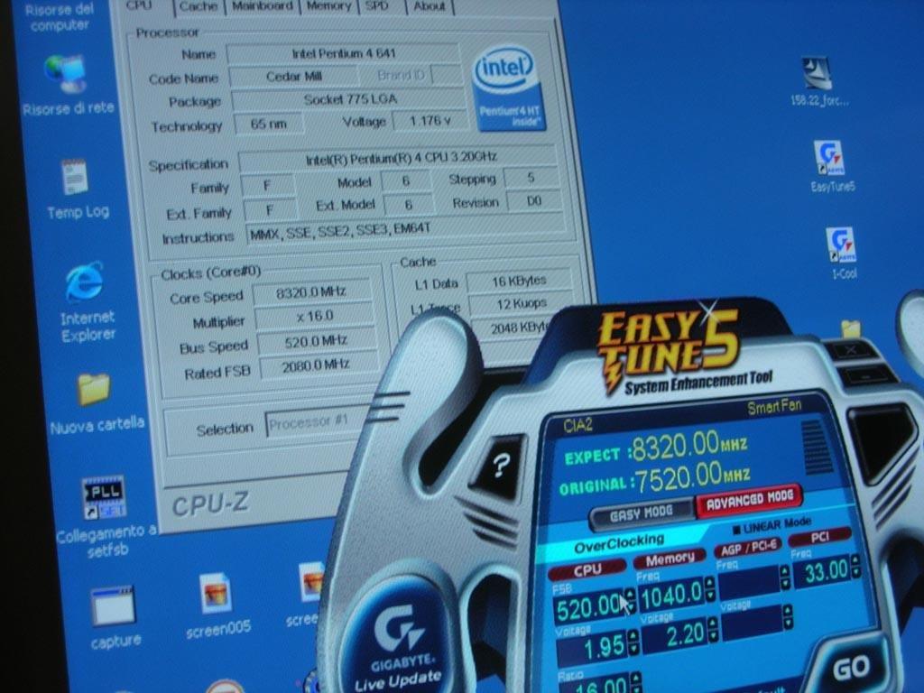 Pentium 4 641 bei 8320 MHz