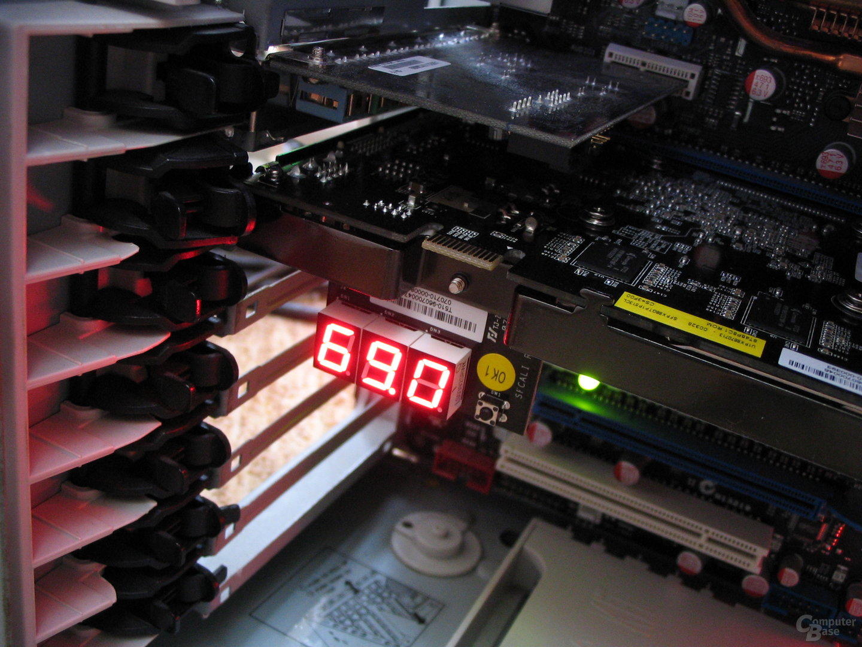 Calibre 8600 GT LED im Betrieb