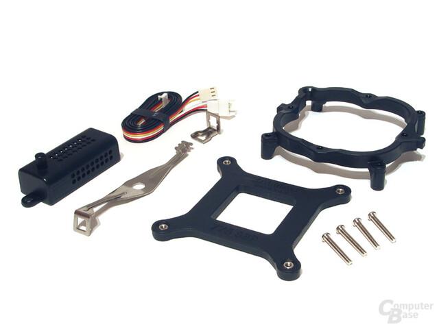Befestigungsmodul für den Sockel 775 und Metallklammer zur Kühlerfixierung