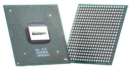 VIA Eden ULV 500 MHz mit 1 Watt Max TDP