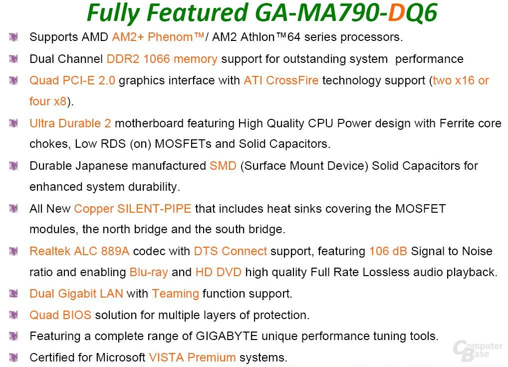 GA-MA790-DQ6 Features