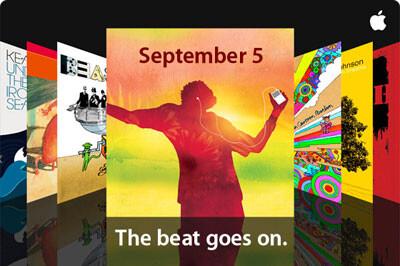 Einladung zum Special Event von Apple am 05.09.2007