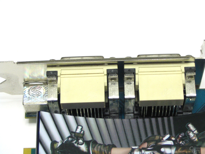 Radeon HD 2600 XT X2 DVI-Ausgaenge