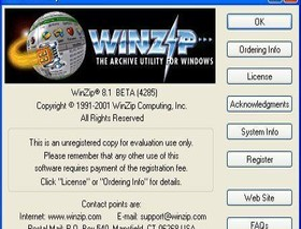 WinZip 8.1 Beta 2