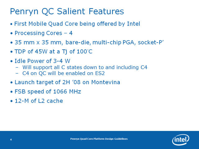 "Intel ""Penryn"" Quad-Core"