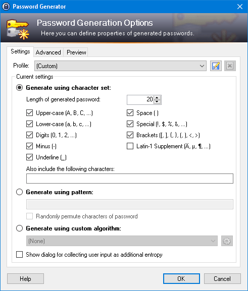 KeePass 2.xx – Password Generator