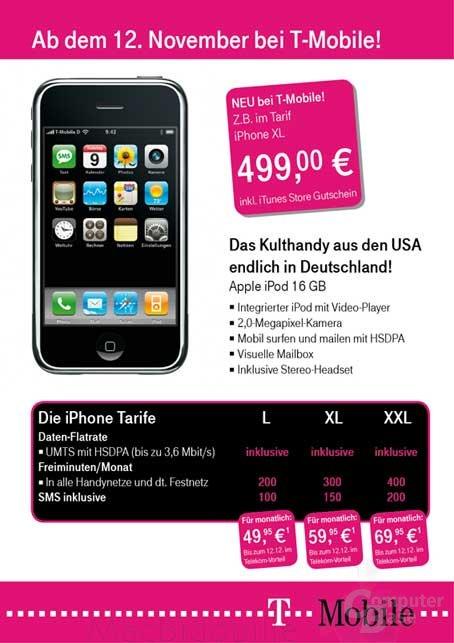 T-Mobile-Werbung für das iPhone