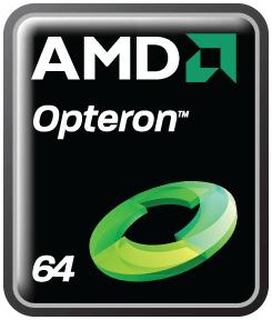 Neues Logo der AMD Opteron mit vier Kernen