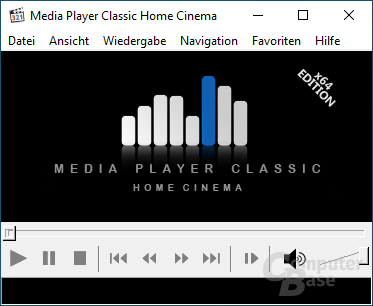 Media Player Classic Home Cinema – Oberfläche