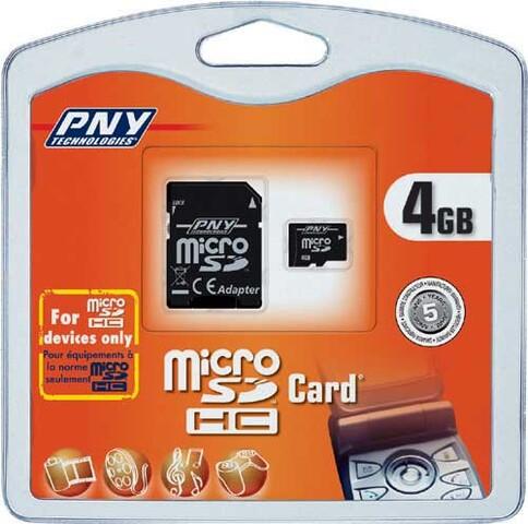 PNY microSDHC 4 GB