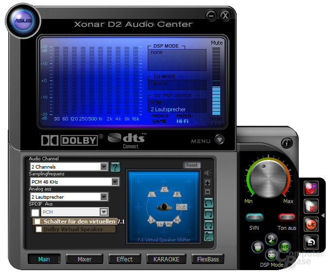 "Xonar D2 Audio Center – ""ausgeklappt"""