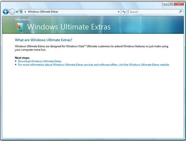Windows Vista Ultimate Extras mit SP1