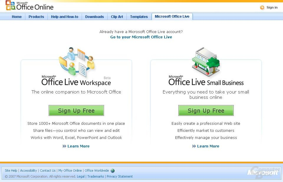 Microsoft Office Live-Angebote