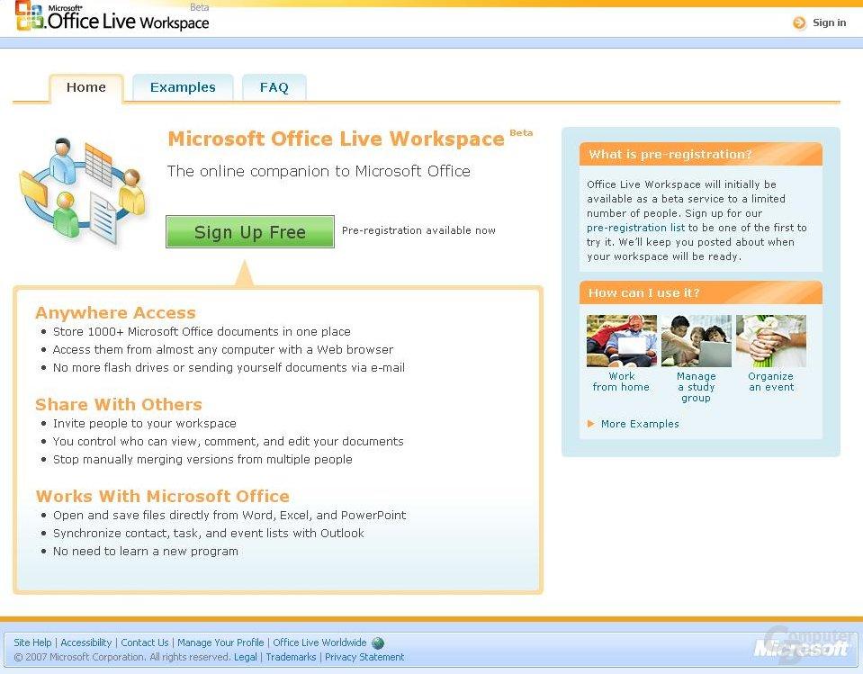 Das neue Microsoft Office Live Workspace