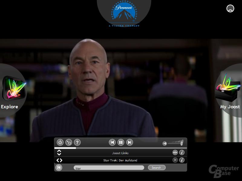 Joost Beta 1.0 mit Star Trek – Der Aufstand in voller Länge