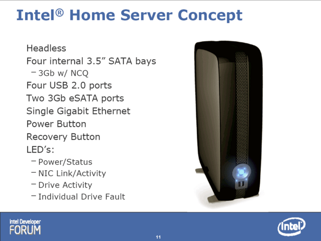 Intel Home-Server Konzept