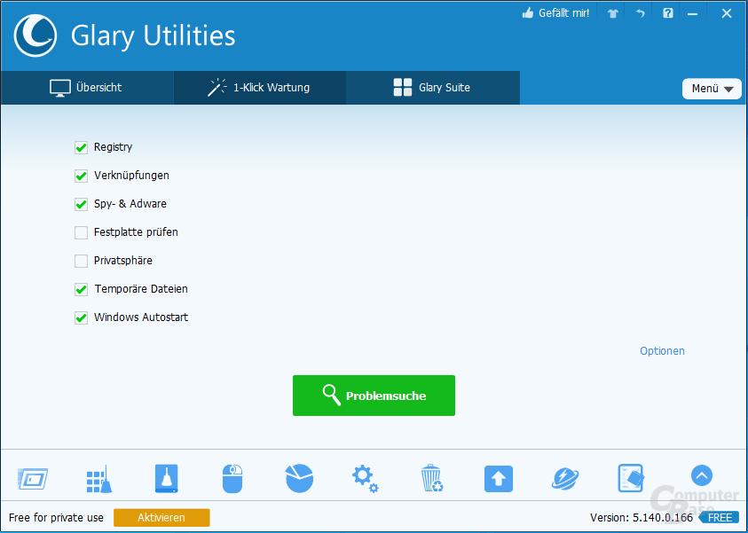 Glary Utilities – 1-Klick-Wartung