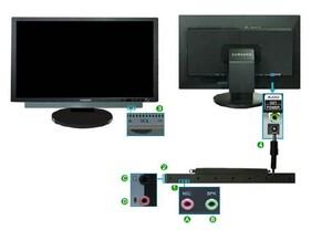 Samsung SyncMaster 245T - Optionaler Samsung-Lautsprecher