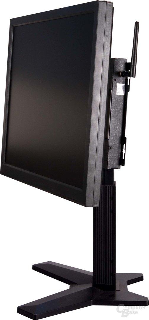 Komplett montierter Monitor mit VIA m7700 PC