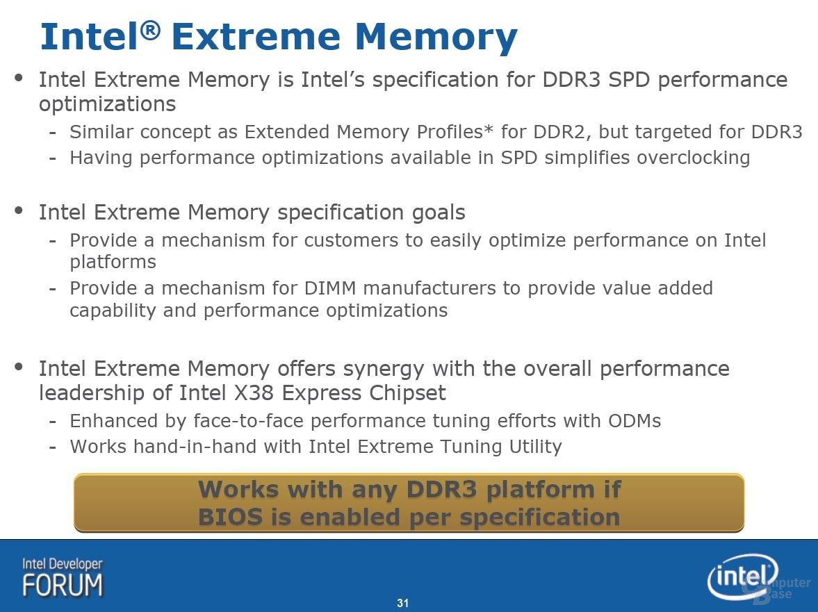 Intel Extreme Memory