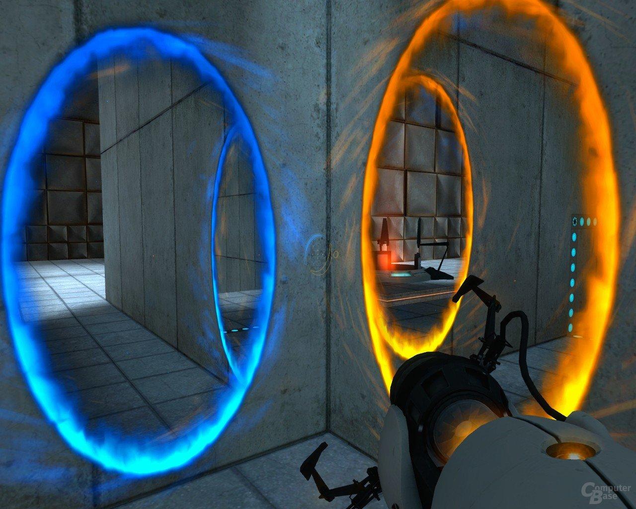 Portal: Um die Ecke denken