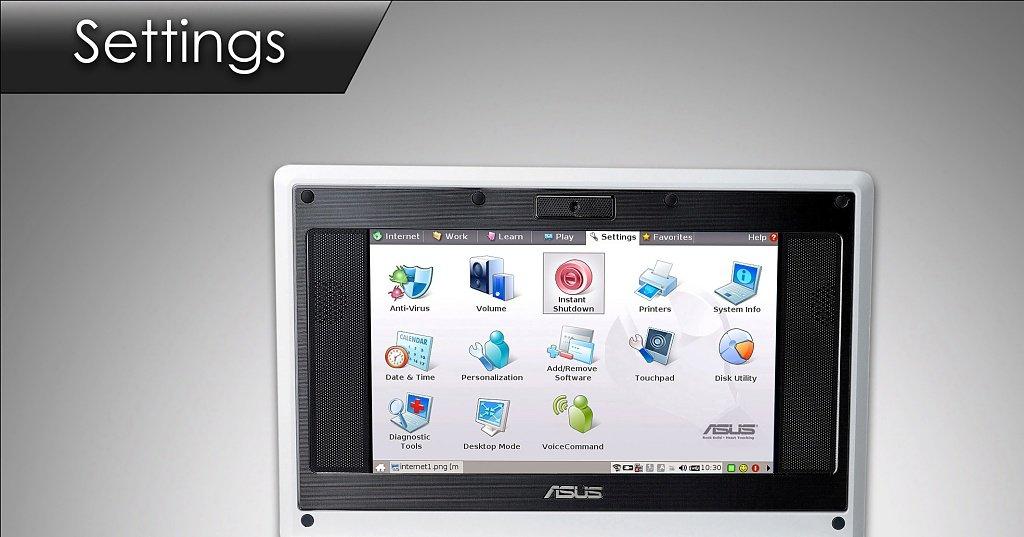 ASUS Eee PC – Settings