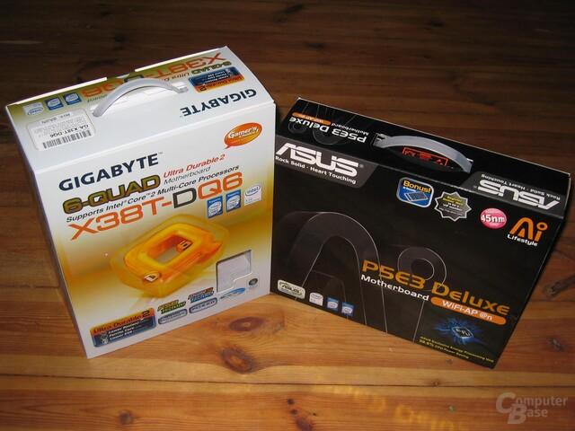 Gigabyte X38T-DQ6 vs. Asus P5E3 Deluxe WiFi-AP