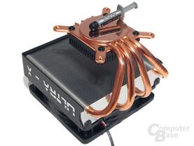 Hochwertiges Kupfer, speziell bearbeitet als Wärmeaufnahme