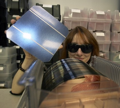 Siliziumwafer und Solarpanel